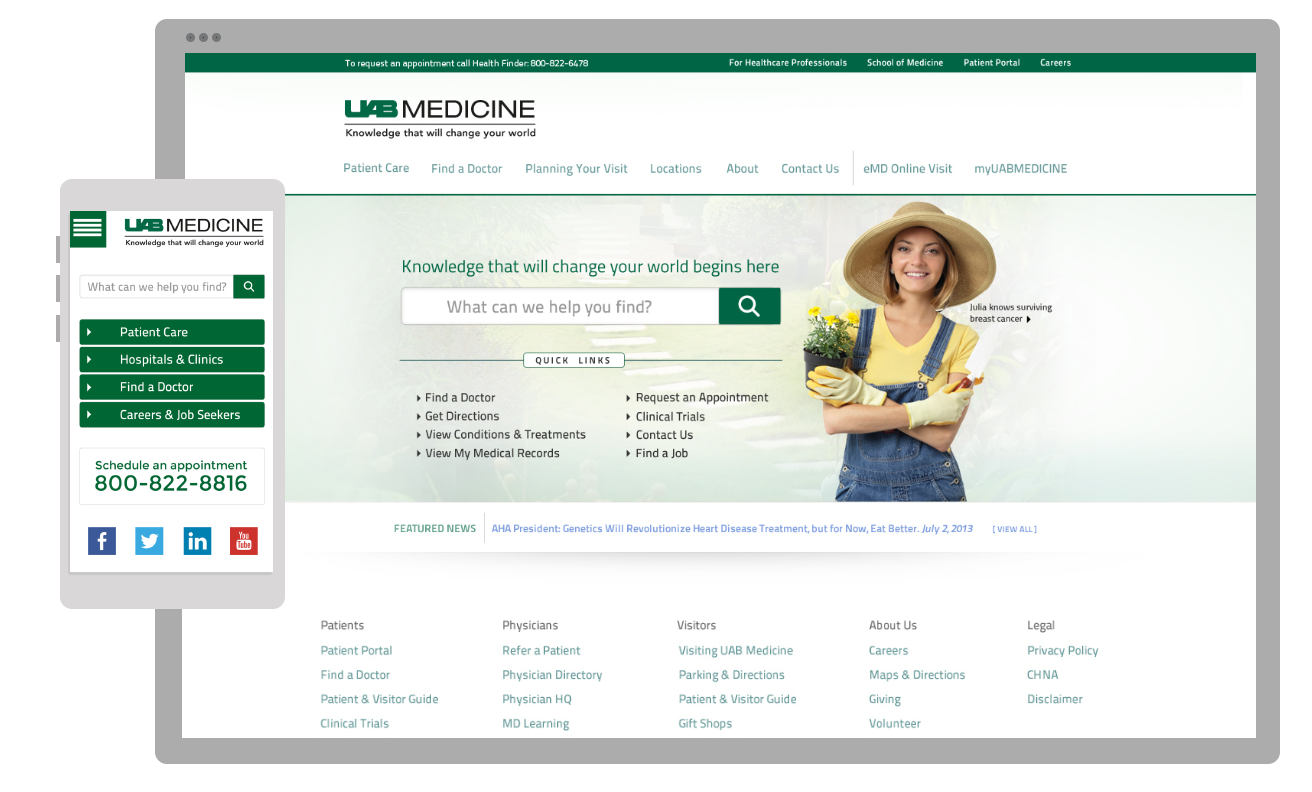 UAB Medicine Website (2014)
